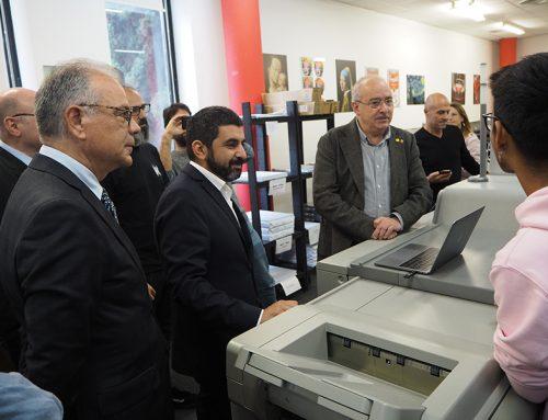29/2019 Els consellers d'Educació Josep Bargalló i de Treball, Afers Socials i Famílies Chakir el Homrani visiten l'Escola Antoni Algueró